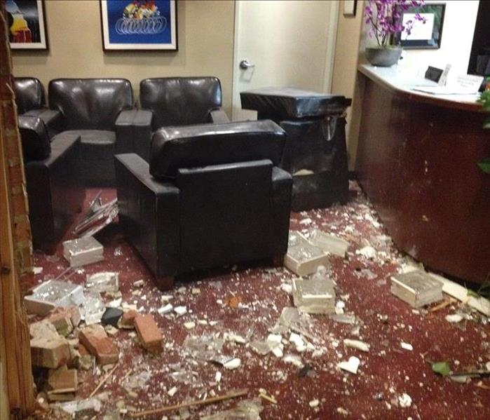 Vandalism (Commercial) - Dental Office  Before